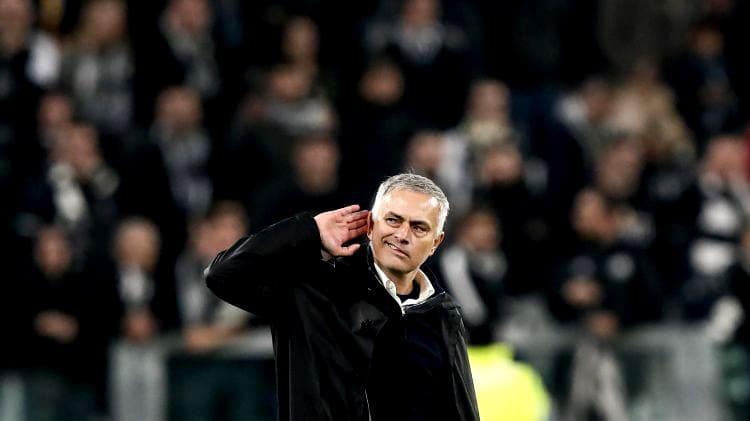 Жозе Моуринью на матче Манчестер Юнайтед против Ювентуса