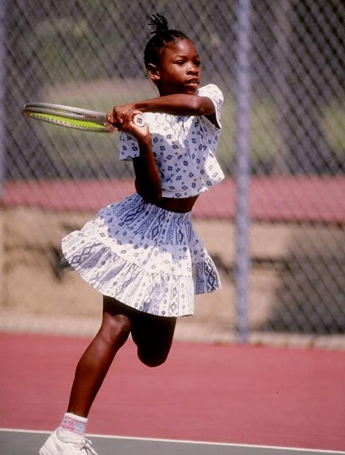 Серена Уильямс в детстве
