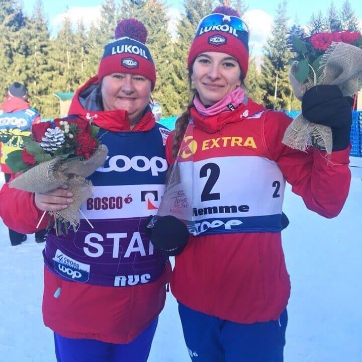 Непряева стала первой в истории лыжного спорта на Тур де Ски