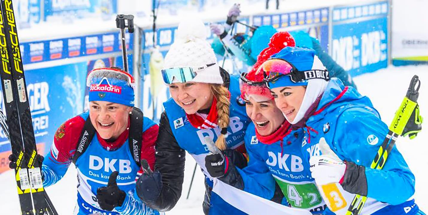 Женская команда по биатлону