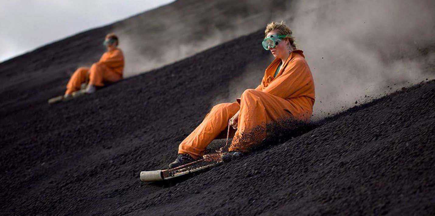 Самые экстремальные виды спорта: вулканобординг
