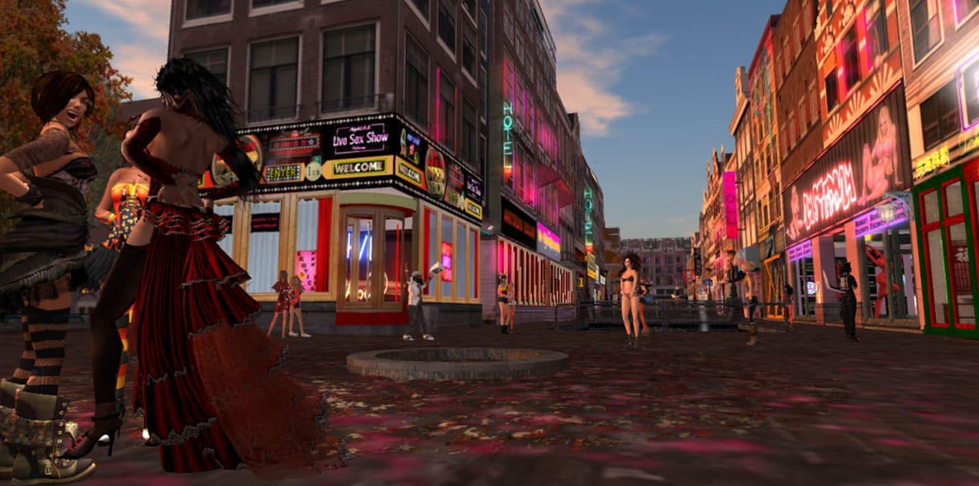 Район Амстердам в Second Life