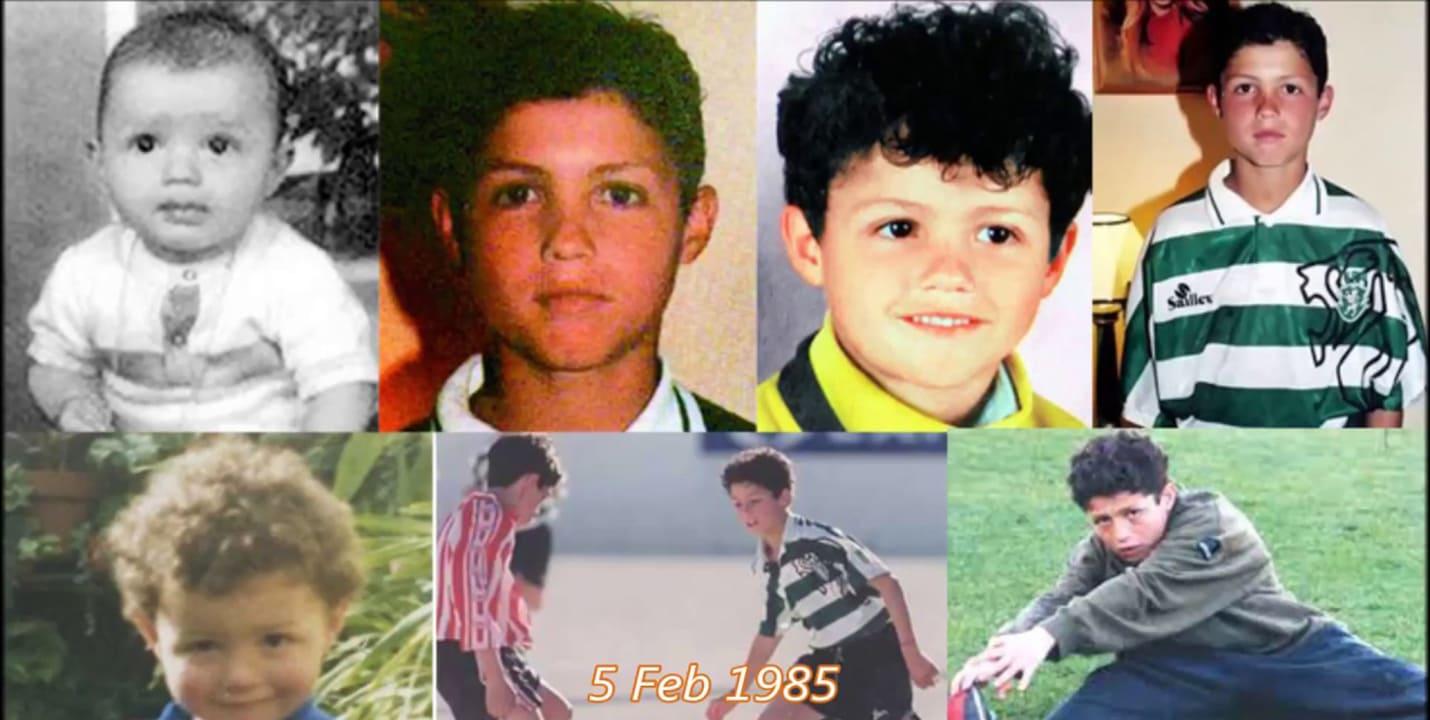 Криштиану Роналду в детстве