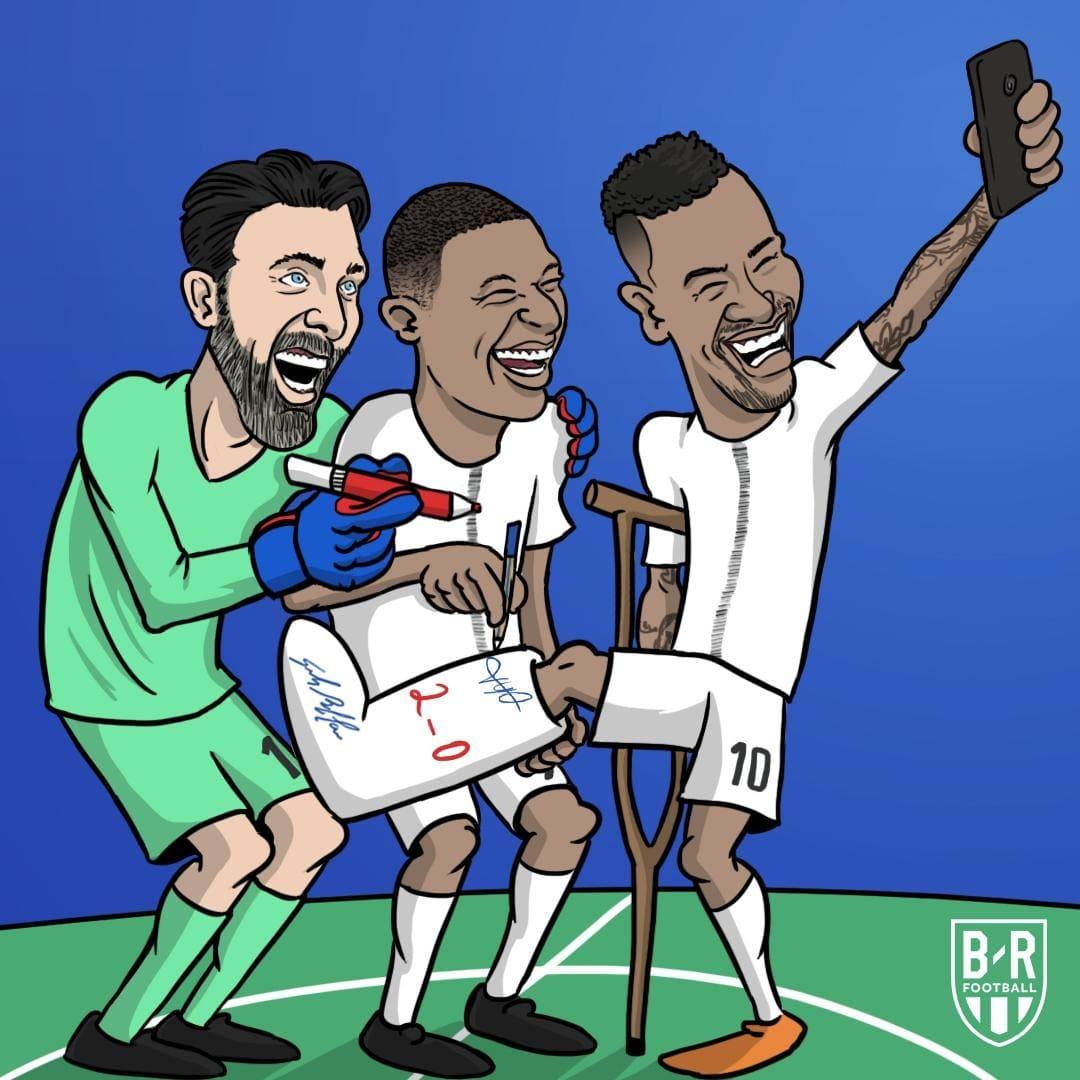 Карикатура на футболистов ПСЖ