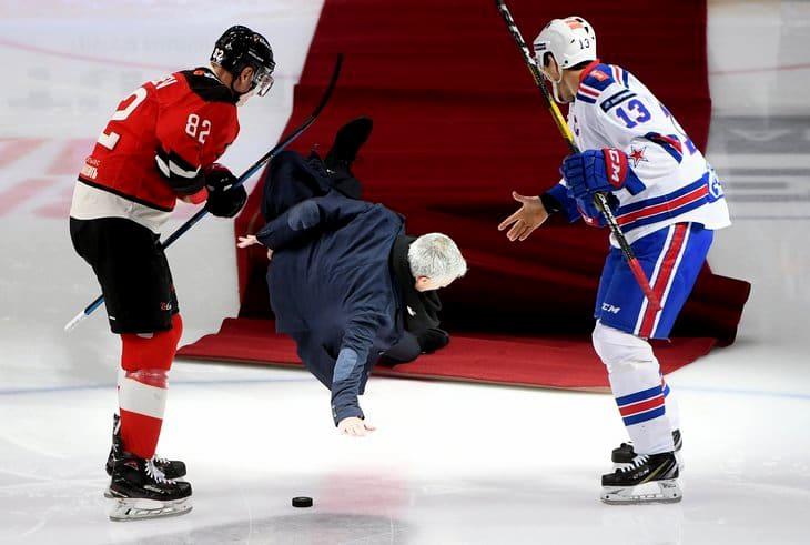 Жозе Моуринью упал на льду