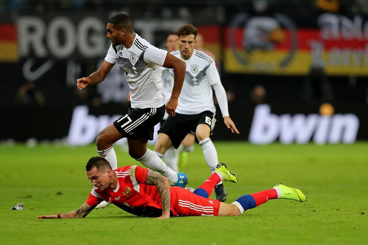 Заболотный в матче со сборной Германией