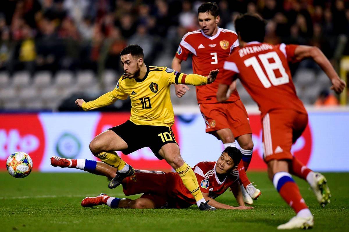 Сборная России против сборной Бельгии