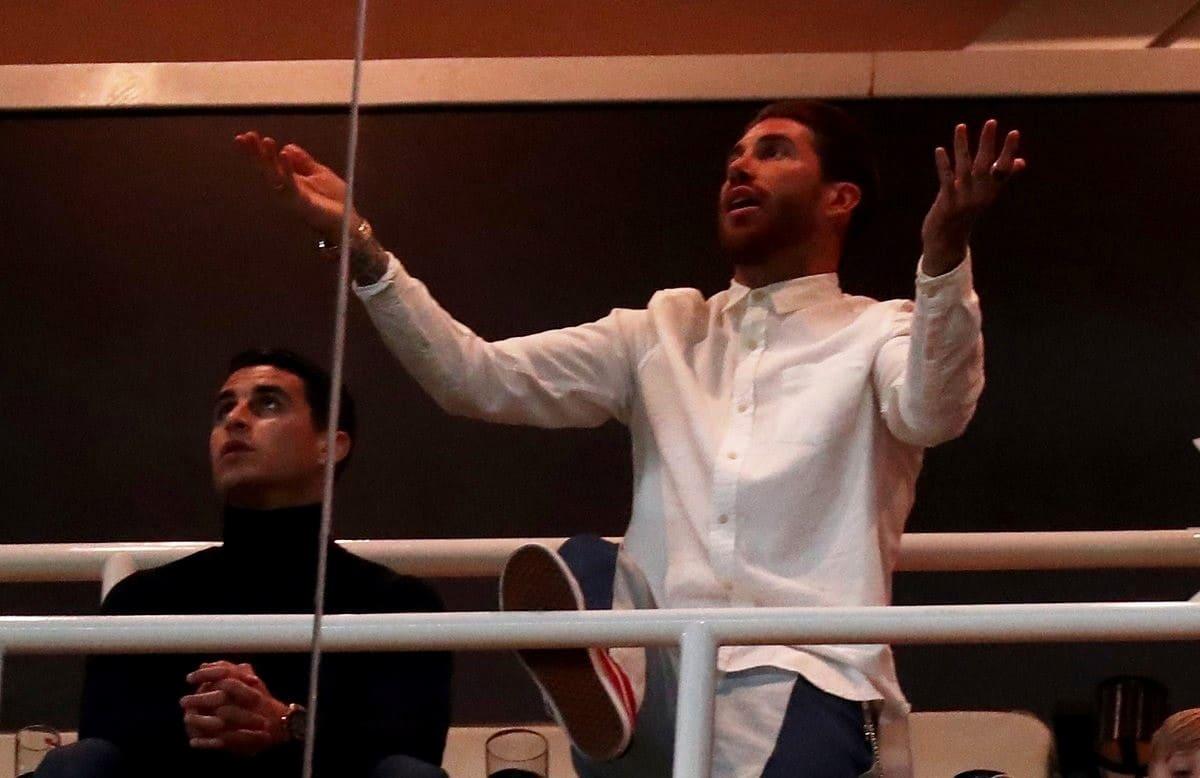 Серхио Рамос на матче Реал Мадрид-Аякс