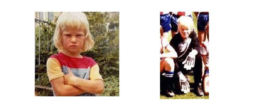 Оливе Канн в детстве