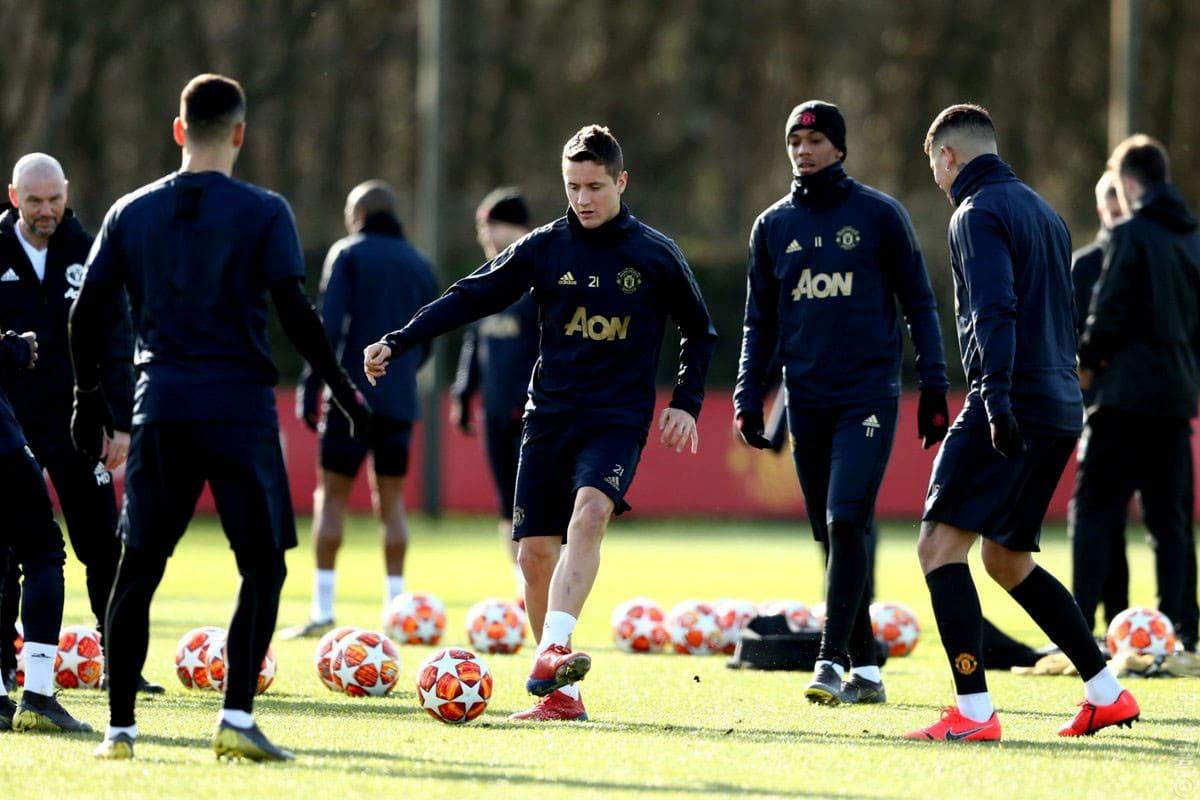 Тренировка Манчестер Юнайтед