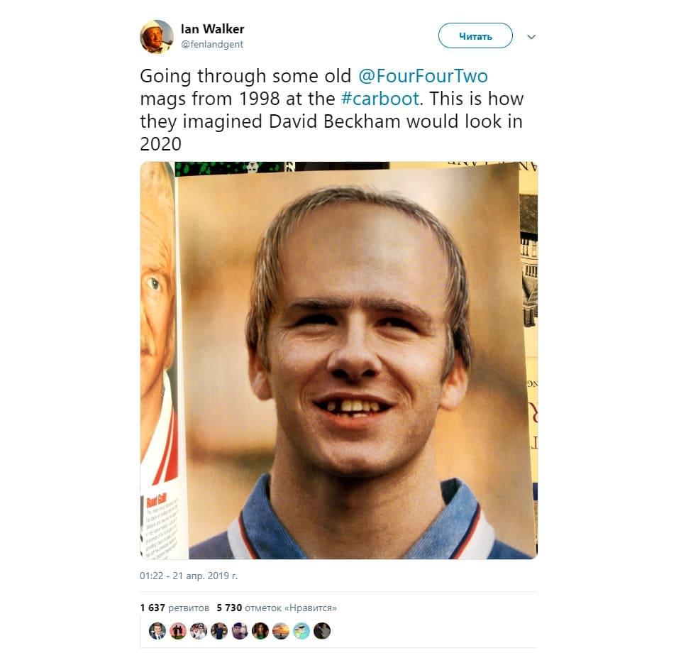 Внешность Дэвида Бекхэма прогноз 1998 года