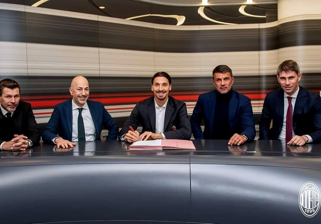 Златан Ибрагимович подписал контракт с Миланом