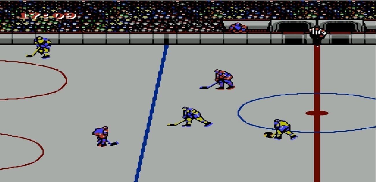 Спортивные игры на Денди - хоккей