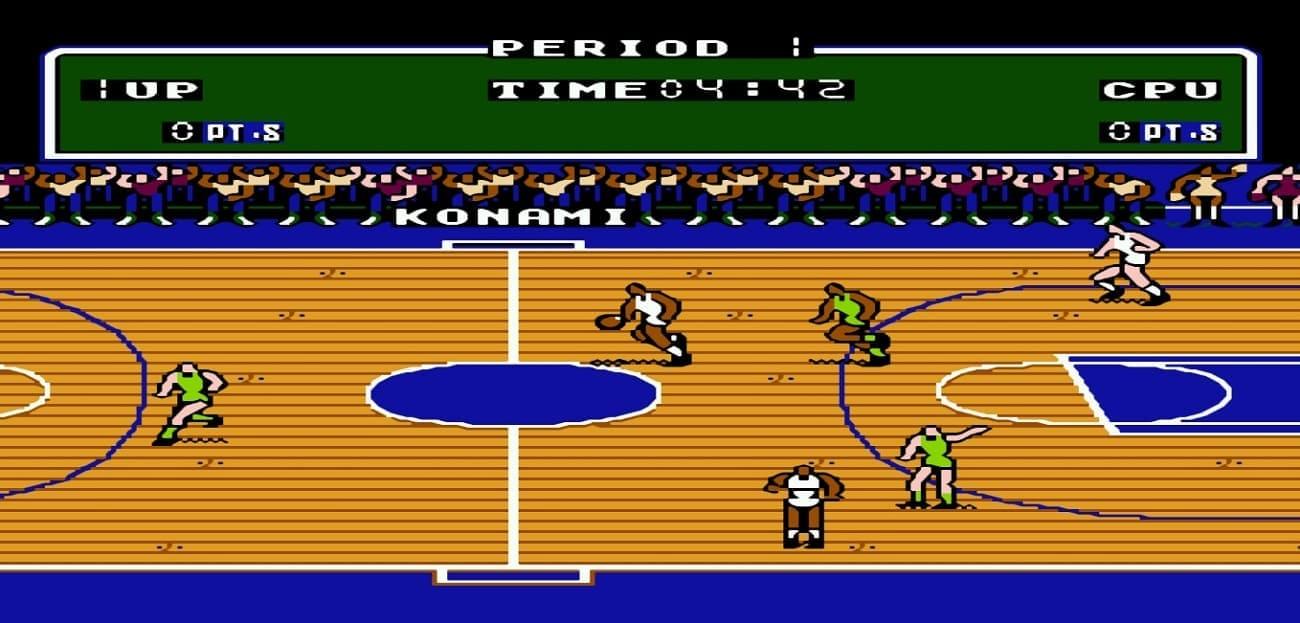 Спортивные игры на Денди - баскетбол