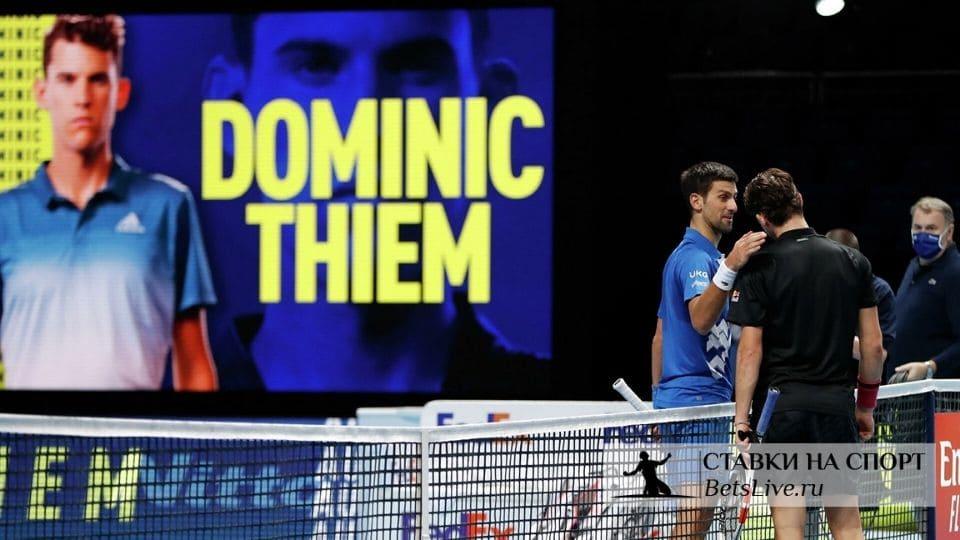 Джокович проигрывает Тиму в полуфинале итогового турнира АТП в Лондоне