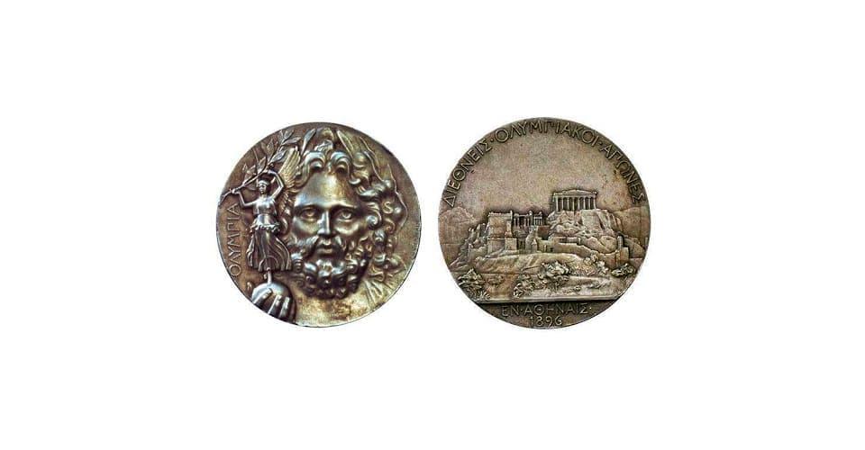Первые медали Олимпиады 1896 год