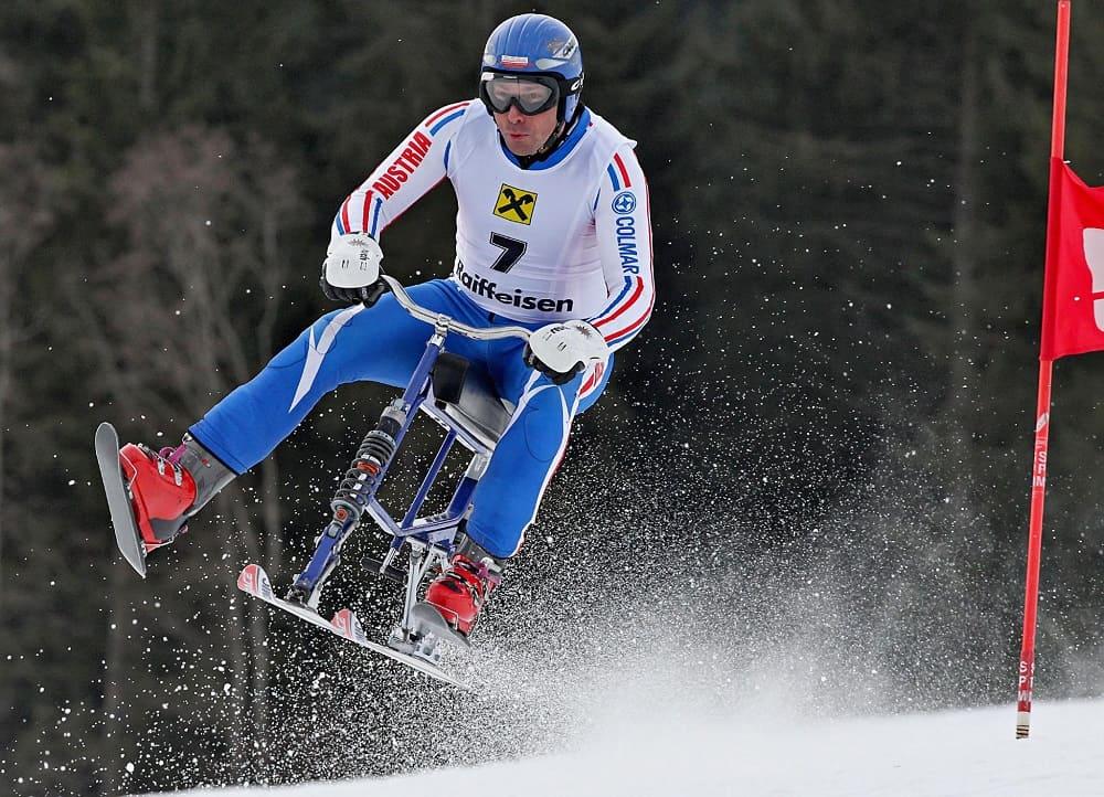 Самые необычные зимние виды спорта - Велолыжи