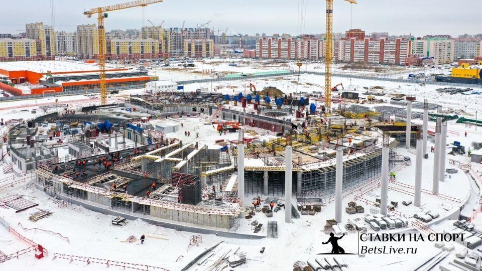 Растет новая арена в Омске